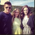 Emily with David Boreanaz at Comic Con 2012 - emily-deschanel photo