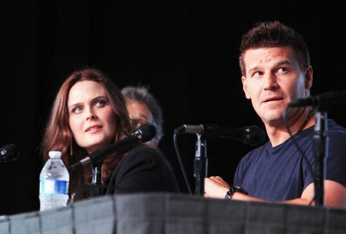 Emily with David Boreanaz at Comic Con 2012