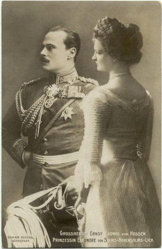Ernest Louis Charles Albert William and Princess Eleonore of Solms-Hohensolms-Lich