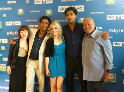 Evanna FM studios in Sinbad and the BFI screening Sky1