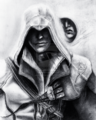 Ezio assassins creed graphite drawing