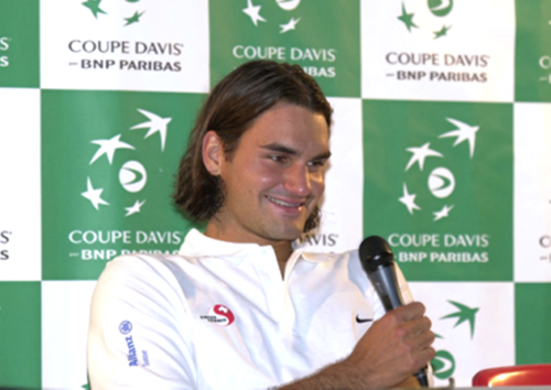 Federer smile in DC