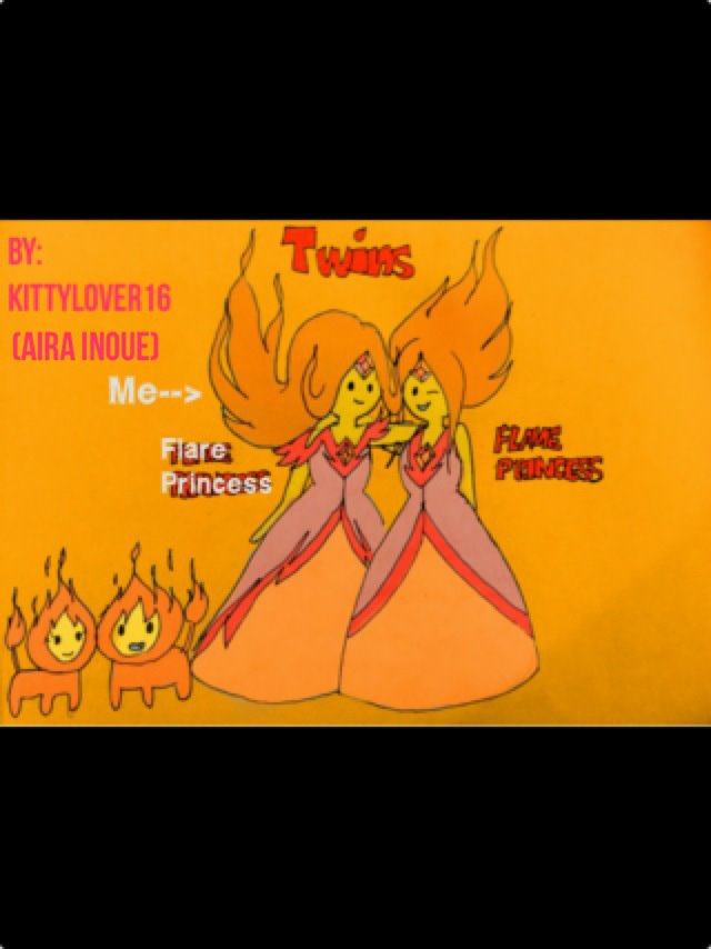 Flare Princess(Me) and Flame Princess ^_^