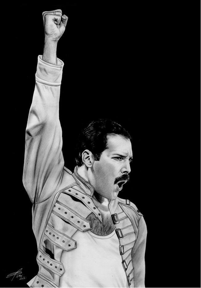 Freddie portrait oleh greg-drawings