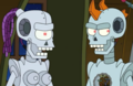 Fry and Leela Robots Futurama - futurama photo