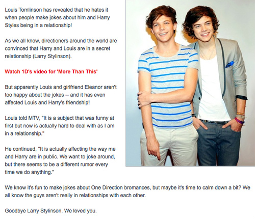 GOODBYE LARRY STYLINSON :(((