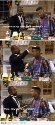 Geoffrey can 你 make me a sandwich?