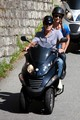 George Clooney and Stacy Keibler Ride a Scooter [July 12, 2012] - george-clooney photo
