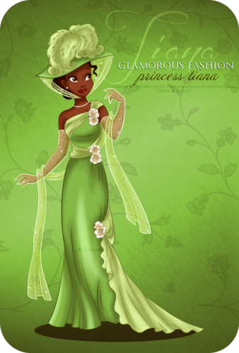 Princesses Disney fond d'écran entitled Glamorous Fashion - Tiana