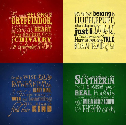 Harry Potter achtergrond titled Hogwarts's houses