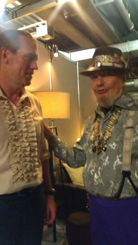 Hugh Laurie and his idol ( Dr John) at Montreux Jazz Fest