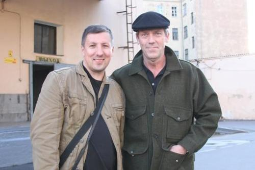 Hugh Laurie+fã- Moscow