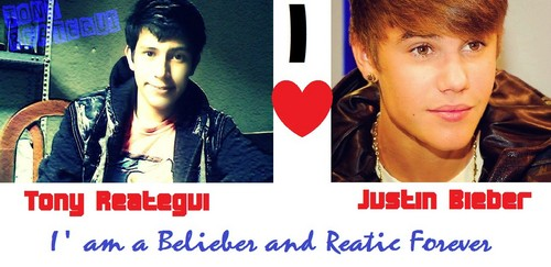 I amor JUSTIN BIEBER AND TONY REATEGUI
