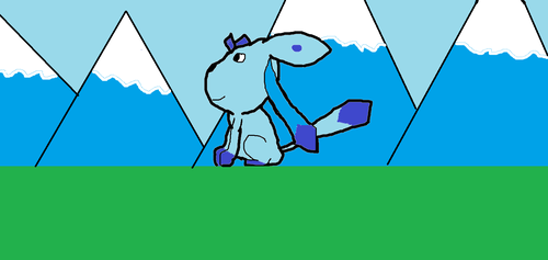I drew this Glaceon!