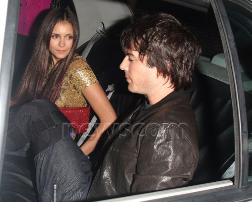 Ian Somerhalder and Nina Dobrev wallpaper possibly with an automobile called Ian/Nina ღ