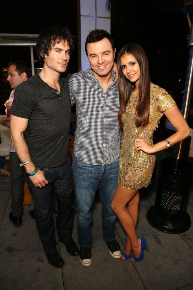 Ian, Seth & Nina @ COMIC CON after party 2012 - ian-somerhalder-and-nina-dobrev Photo