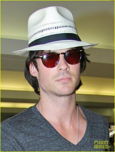Ian arriving @ LAX