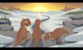 Ice Age Dinos Sunset - ice-age fan art