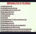 Impossibilites in the world