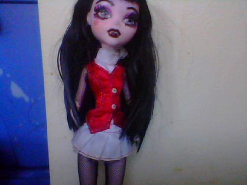 Is my doll ugly? I drew on her. I tried to make a custom doll. It didn't turn out so good...