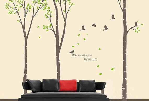 Nature Wall Decor Stickers : It s a world inspired by nature tree wall sticker home