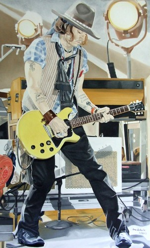 JOHNNY AT THE MTV MOVIE AWARDS – A PAINTING