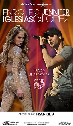 Jennifer Lopez & Enrique Iglesias Tour Poster