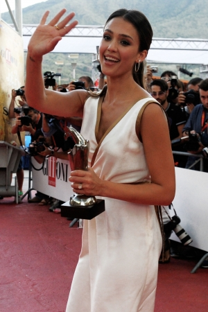 Jessica Alba wallpaper titled Jessica Alba at the 2012 Giffoni Film Festival [July 14]