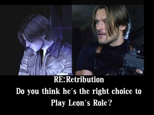 Leon Kennedy 바탕화면 probably containing a business suit and 아니메 titled Johann Urb as Leon Kennedy -RE:Retribution 2012