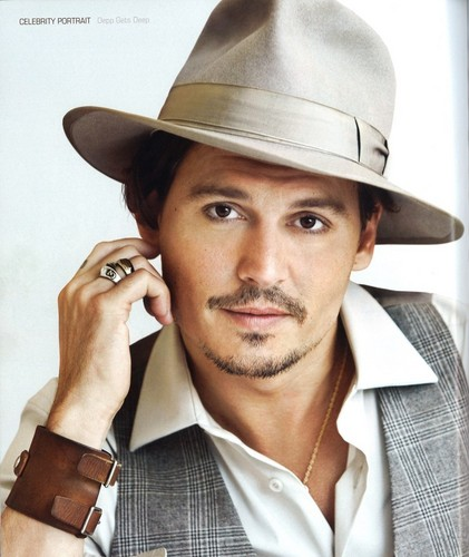 Johnny Depp wallpaper with a fedora, a campaign hat, and a snap brim hat entitled Johnny