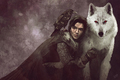 Jon Snow & Ghost - a-song-of-ice-and-fire photo