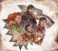 Jon & Ygritte, Gendry & Arya