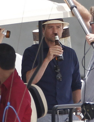Justin Timberlake Throws Back A Cold One [June 26, 2012] - justin-timberlake Photo