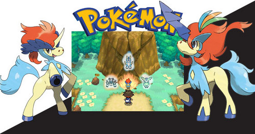 Legendary Pokemon achtergrond possibly with anime titled Keldeo forms