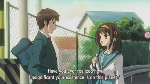Kyon's existance is insignificant! - kyon-the-melancholy-of-haruhi-suzumiya Photo
