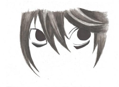 L's eyes