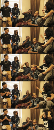 LMAO prince & that punk rock sign  he left him hanging & the guys face in the last picture tho.. - mindless-behavior Photo