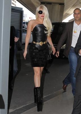 Lady Gaga at Sydney airport leaving Australia (July 9th)