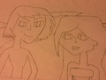 Lance and Sami(uncolored) - total-drama-island fan art