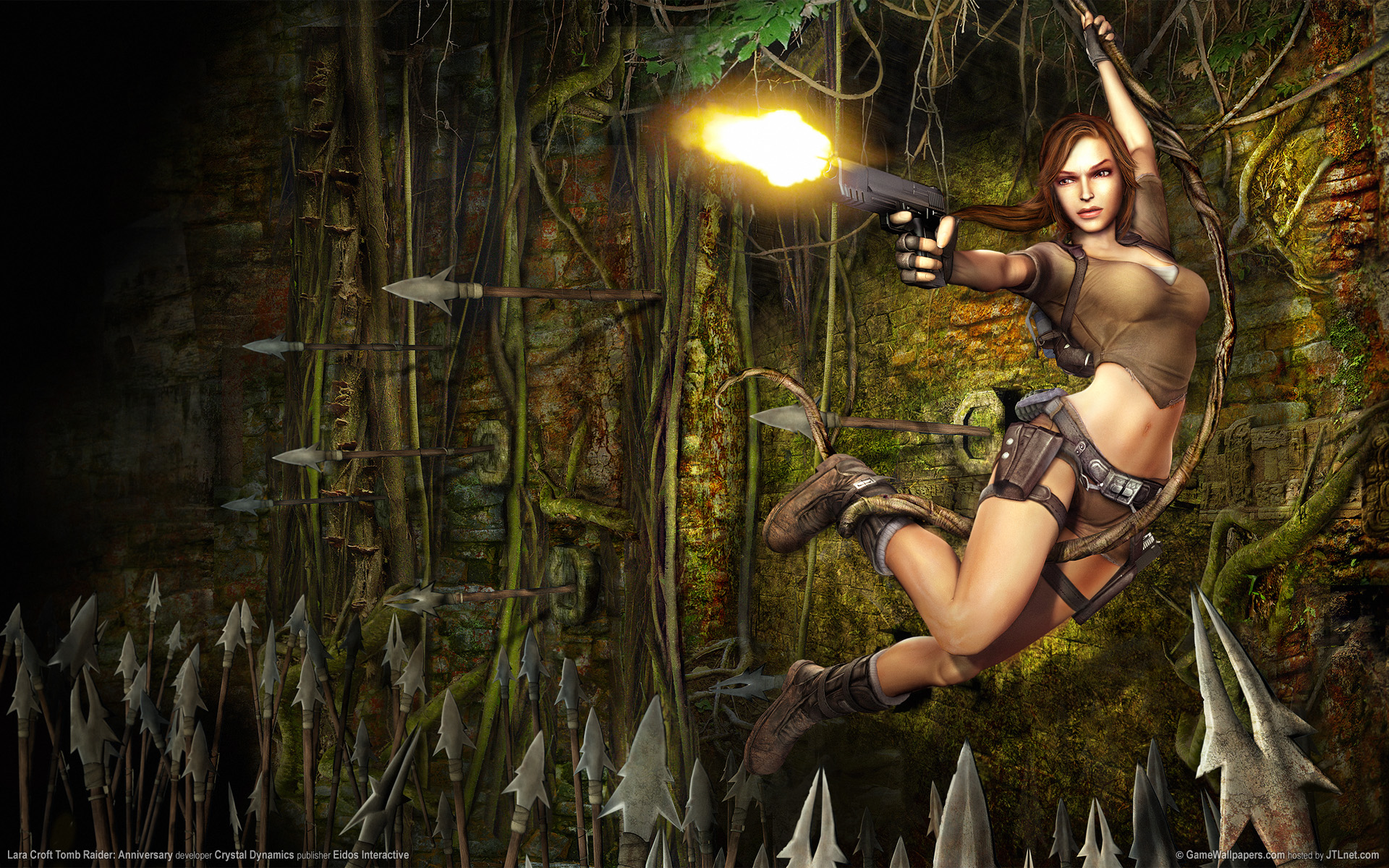 Tomb Raider Trilogy Lara CroftTomb Raider Anniversary Wallpaper