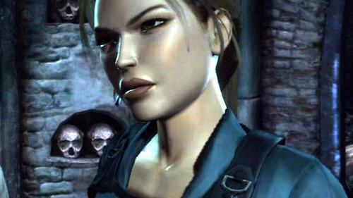 Lara's face
