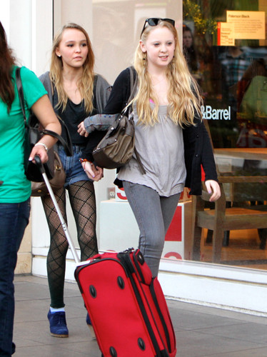 Lily-rose Depp on Los Angeles, California 12.30.2011