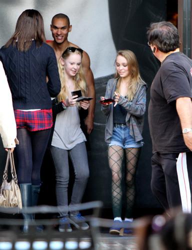Lily-rose Depp on Los Angeles, California 12.30.2011