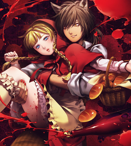 Little Red Riding hud, hood x Big Bad serigala, wolf Anime