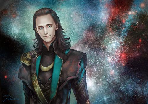 Loki (Thor 2011) hình nền containing anime entitled Loki Fanart
