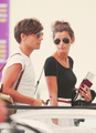 Lou and El at airport from France June 10th 2012