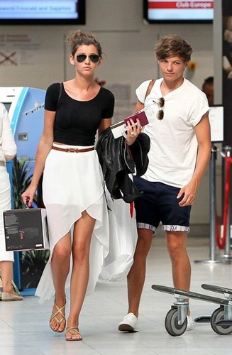 Lou and El at the airport