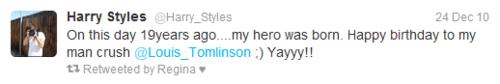 Louis/Harry Tweets