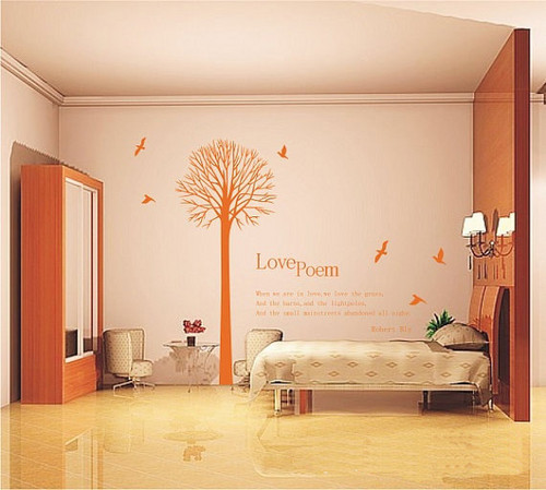 Love Poem Tree Wall Sticker
