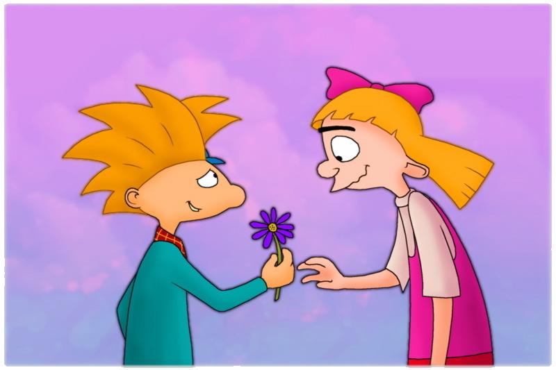 Parejas  de cartoon Love-them-3-arnold-and-helga-31458847-800-533